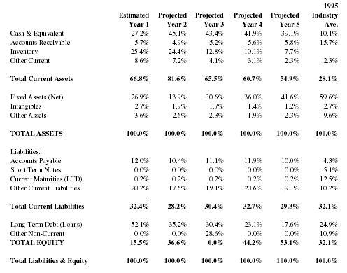 projected balance sheet template .
