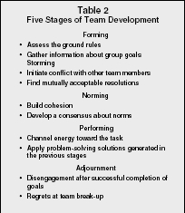 performing stage of group development